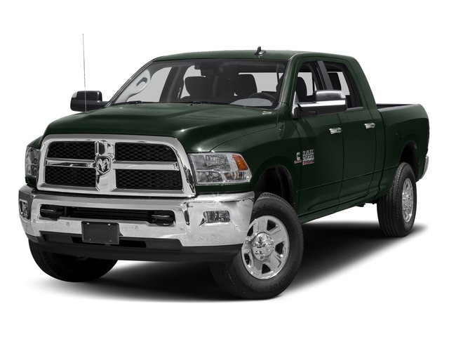 Black Forest Green Pearlcoat 2017 Ram Truck 3500 Pictures 3500 Mega Cab SLT 4WD photos front view