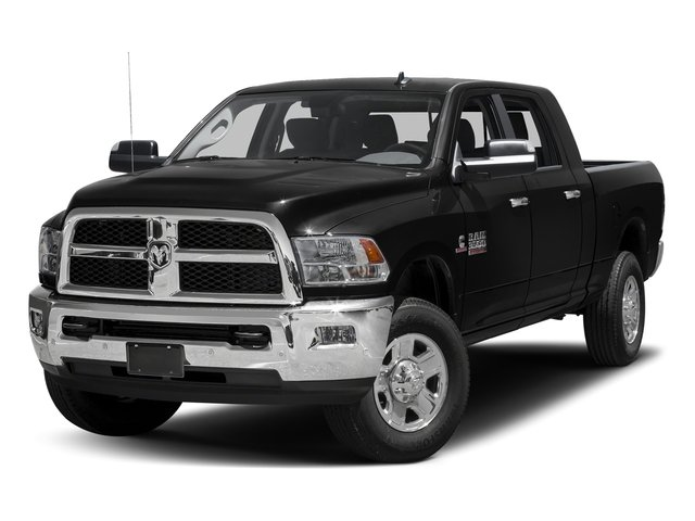 Black Clearcoat 2017 Ram Truck 3500 Pictures 3500 Mega Cab SLT 4WD photos front view