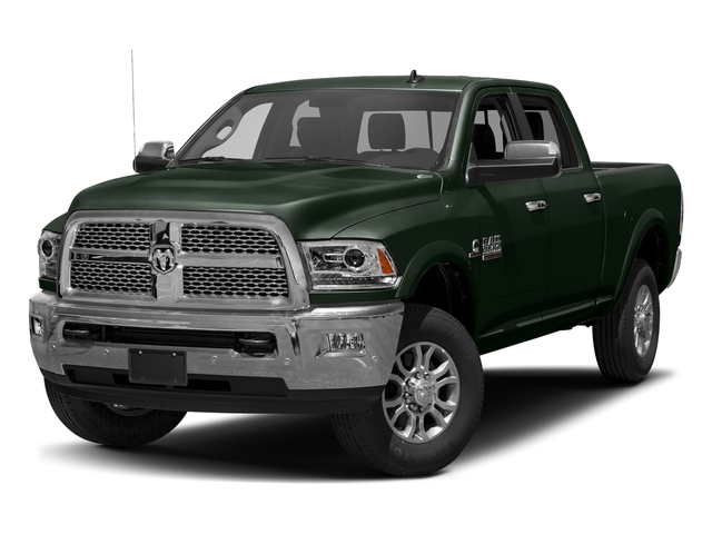Black Forest Green Pearlcoat 2017 Ram Truck 3500 Pictures 3500 Crew Cab Laramie 4WD photos front view