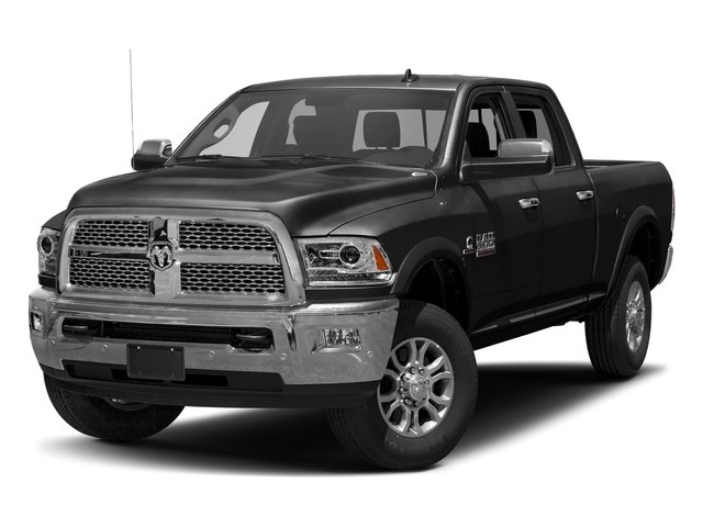 Brilliant Black Crystal Pearlcoat 2017 Ram Truck 3500 Pictures 3500 Crew Cab Laramie 4WD photos front view