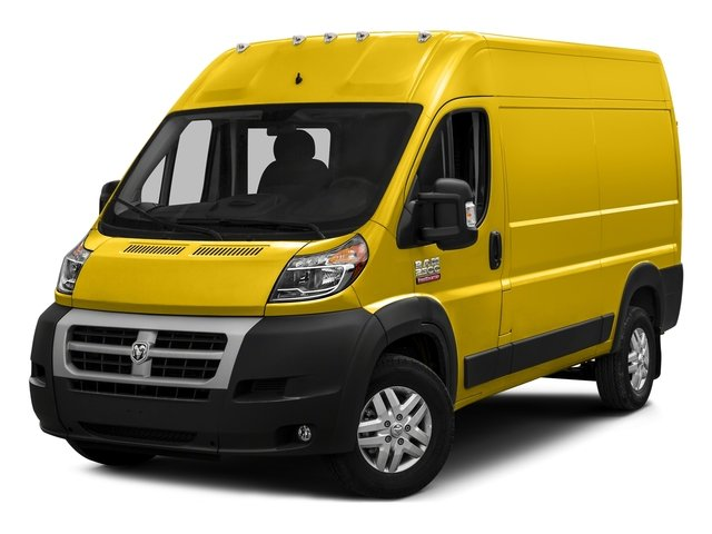 Broom Yellow Clearcoat 2017 Ram Truck ProMaster Cargo Van Pictures ProMaster Cargo Van 2500 High Roof 136 WB photos front view