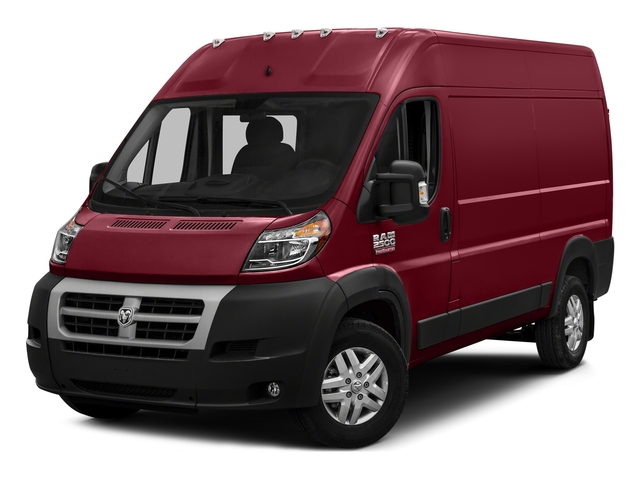 Deep Cherry Red Crystal Pearlcoat 2017 Ram Truck ProMaster Cargo Van Pictures ProMaster Cargo Van 2500 High Roof 136 WB photos front view