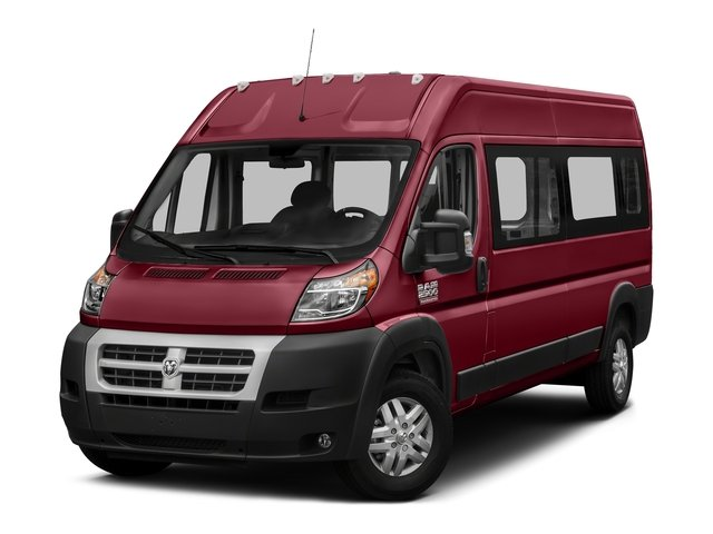 Deep Cherry Red Crystal Pearlcoat 2017 Ram Truck ProMaster Window Van Pictures ProMaster Window Van 2500 High Roof 159 WB photos front view