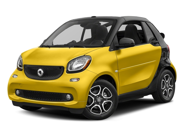 Black-to-Yellow Metallic 2017 smart fortwo Pictures fortwo Convertible 2D Prime I3 Turbo photos front view