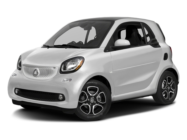 White 2017 smart fortwo Pictures fortwo Coupe 2D Proxy I3 Turbo photos front view