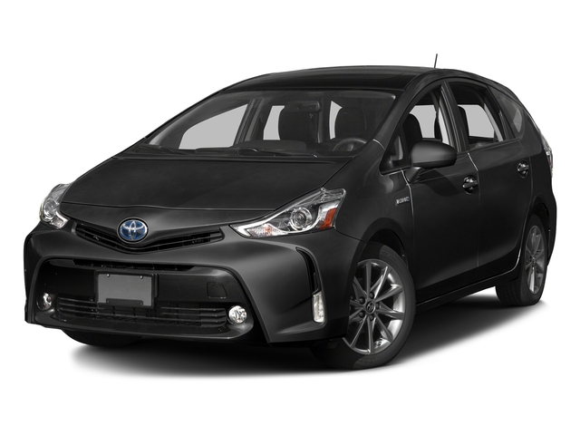 Midnight Black Metallic 2017 Toyota Prius v Pictures Prius v Liftback 5D v Five I4 Hybrid photos front view