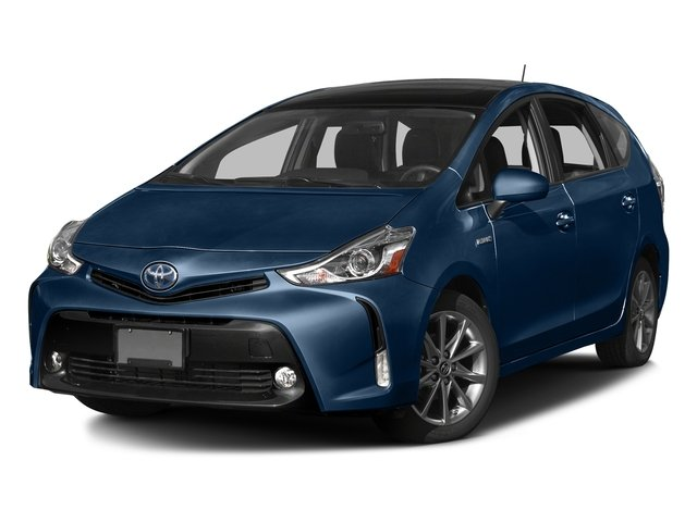 Blue Ribbon Metallic 2017 Toyota Prius v Pictures Prius v Liftback 5D v Five I4 Hybrid photos front view