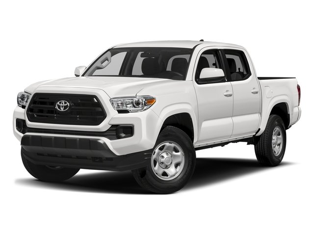 Super White 2017 Toyota Tacoma Pictures Tacoma SR Crew Cab 4WD V6 photos front view
