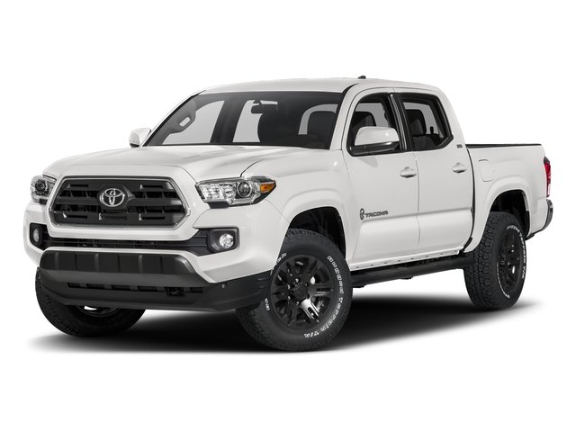 Super White 2017 Toyota Tacoma Pictures Tacoma SR5 Crew Cab 2WD V6 photos front view