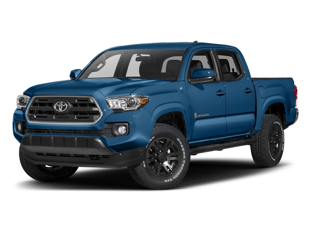 Blazing Blue Pearl 2017 Toyota Tacoma Pictures Tacoma SR5 Crew Cab 2WD V6 photos front view