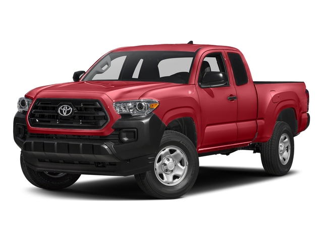 Barcelona Red Metallic 2017 Toyota Tacoma Pictures Tacoma SR Extended Cab 2WD V6 photos front view