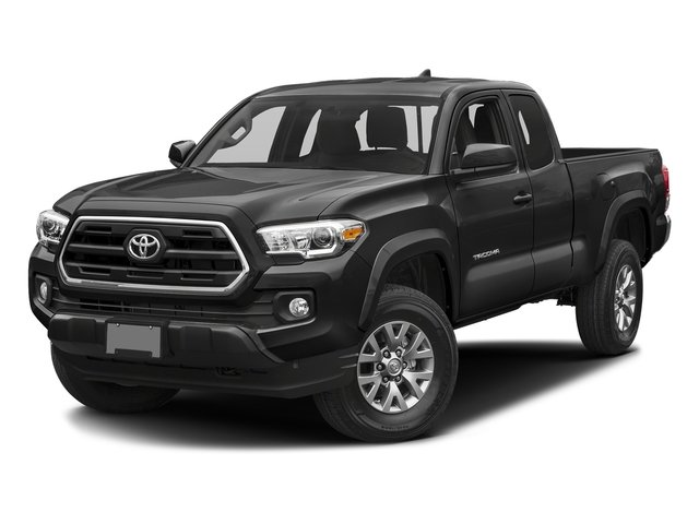 Magnetic Gray Metallic 2017 Toyota Tacoma Pictures Tacoma SR5 Extended Cab 2WD V6 photos front view