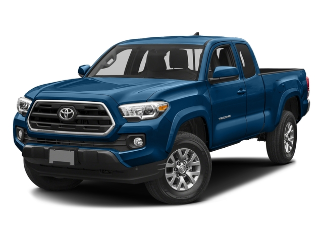 Blazing Blue Pearl 2017 Toyota Tacoma Pictures Tacoma SR5 Extended Cab 2WD V6 photos front view