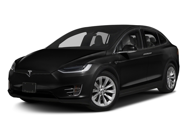Obsidian Black Metallic 2017 Tesla Motors Model X Pictures Model X Utility 4D 90 kWh AWD Electric photos front view