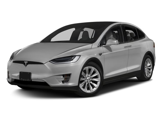 Silver Metallic 2017 Tesla Motors Model X Pictures Model X Utility 4D 90 kWh AWD Electric photos front view