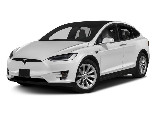 Pearl White Multi-Coat 2017 Tesla Motors Model X Pictures Model X Utility 4D 90 kWh AWD Electric photos front view