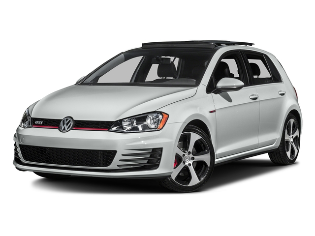 Pure White 2017 Volkswagen Golf GTI Pictures Golf GTI 2.0T 4-Door SE Manual photos front view