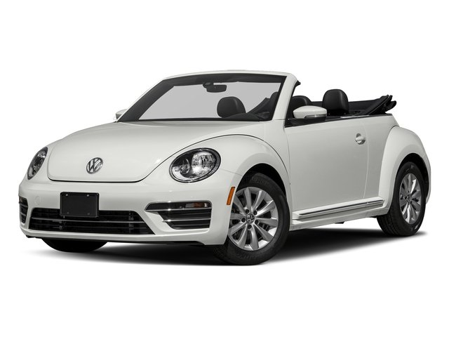 Pure White/Black Roof 2017 Volkswagen Beetle Convertible Pictures Beetle Convertible 1.8T Classic Auto photos front view