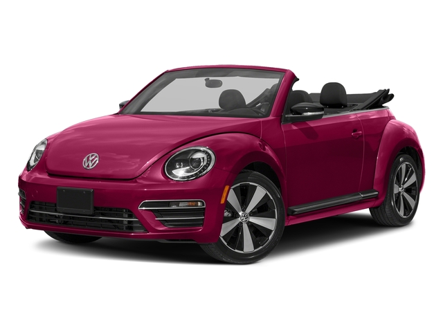 Fresh Fuchsia Metallic/Black Roof 2017 Volkswagen Beetle Convertible Pictures Beetle Convertible #PinkBeetle Auto photos front view