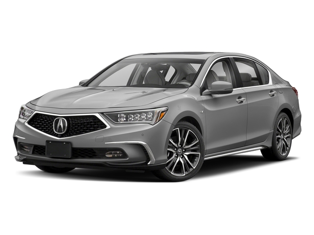 Lunar Silver Metallic 2018 Acura RLX Pictures RLX Sedan 4D Sport AWD Hybrid photos front view