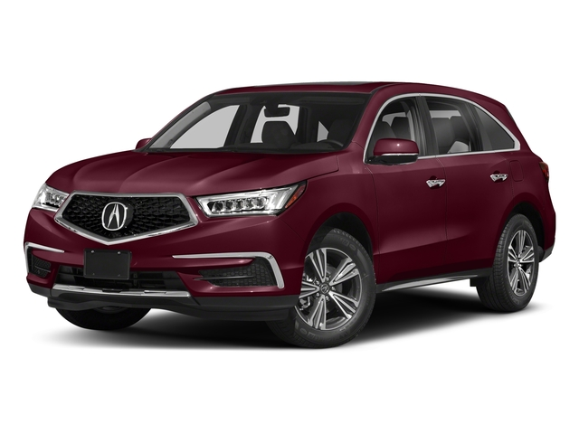 Basque Red Pearl II 2018 Acura MDX Pictures MDX FWD photos front view