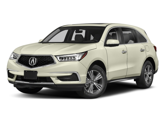 White Diamond Pearl 2018 Acura MDX Pictures MDX FWD photos front view