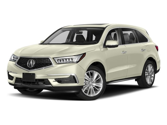 White Diamond Pearl 2018 Acura MDX Pictures MDX FWD w/Technology Pkg photos front view