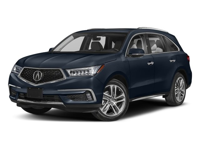 Fathom Blue Pearl 2018 Acura MDX Pictures MDX SH-AWD w/Advance/Entertainment Pkg photos front view
