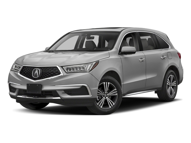 Lunar Silver Metallic 2018 Acura MDX Pictures MDX SH-AWD photos front view