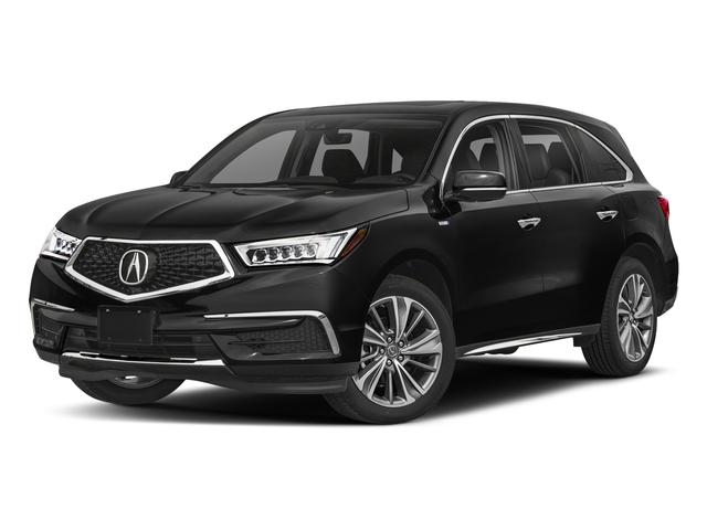 Crystal Black Pearl 2018 Acura MDX Pictures MDX SH-AWD Sport Hybrid w/Technology Pkg photos front view