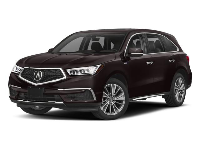 Black Copper Pearl 2018 Acura MDX Pictures MDX SH-AWD Sport Hybrid w/Technology Pkg photos front view