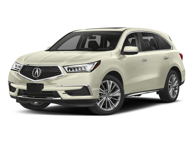 White Diamond Pearl 2018 Acura MDX Pictures MDX SH-AWD Sport Hybrid w/Technology Pkg photos front view