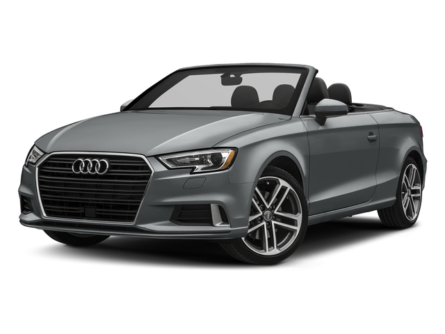 Monsoon Gray Metallic/Black Roof 2018 Audi A3 Cabriolet Pictures A3 Cabriolet 2.0 TFSI Premium quattro AWD photos front view