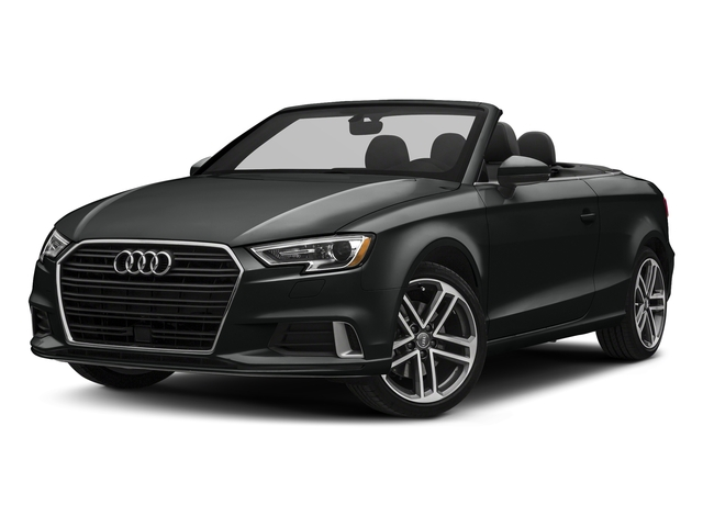 Mythos Black Metallic/Black Roof 2018 Audi A3 Cabriolet Pictures A3 Cabriolet 2.0 TFSI Premium quattro AWD photos front view