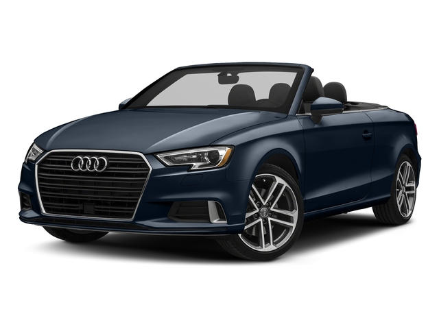 Cosmos Blue Metallic/Black Roof 2018 Audi A3 Cabriolet Pictures A3 Cabriolet 2.0 TFSI Premium quattro AWD photos front view