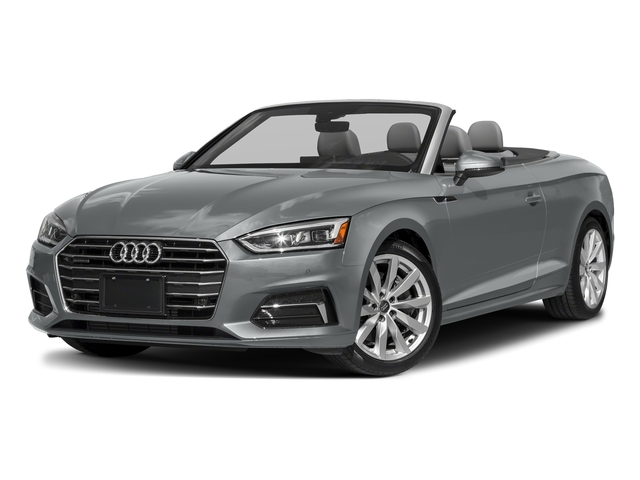 Monsoon Gray Metallic/Black Roof 2018 Audi A5 Cabriolet Pictures A5 Cabriolet 2.0 TFSI Premium photos front view