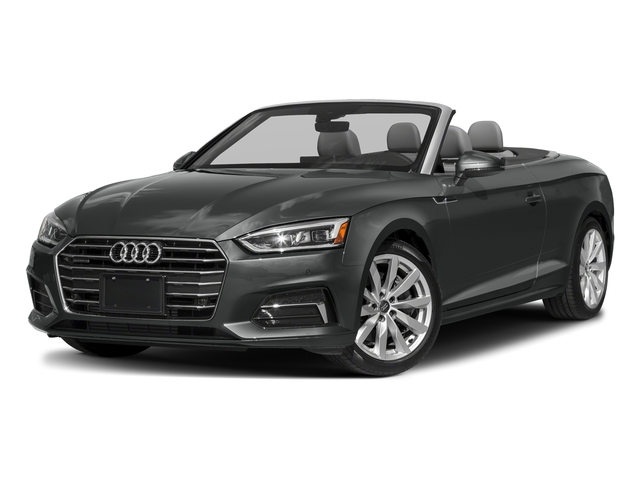 Mythos Black Metallic/Black Roof 2018 Audi A5 Cabriolet Pictures A5 Cabriolet 2.0 TFSI Premium photos front view