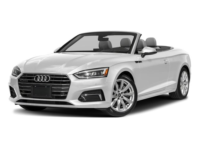 Glacier White Metallic/Black Roof 2018 Audi A5 Cabriolet Pictures A5 Cabriolet 2.0 TFSI Premium photos front view