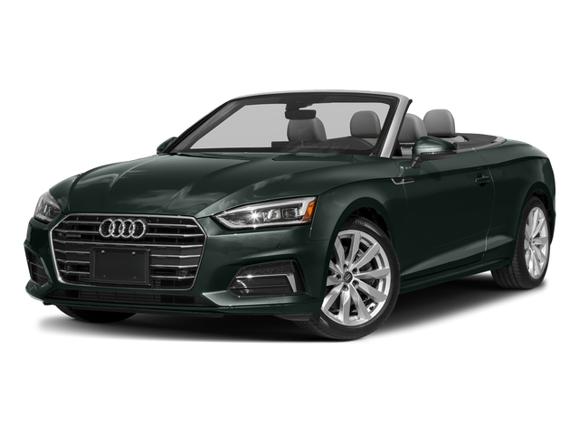 Gotland Green Metallic/Black Roof 2018 Audi A5 Cabriolet Pictures A5 Cabriolet 2.0 TFSI Premium photos front view