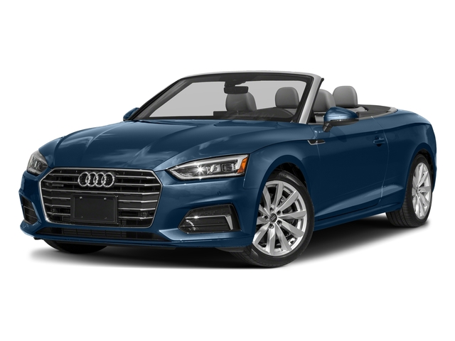 Scuba Blue Metallic/Black Roof 2018 Audi A5 Cabriolet Pictures A5 Cabriolet 2.0 TFSI Premium photos front view