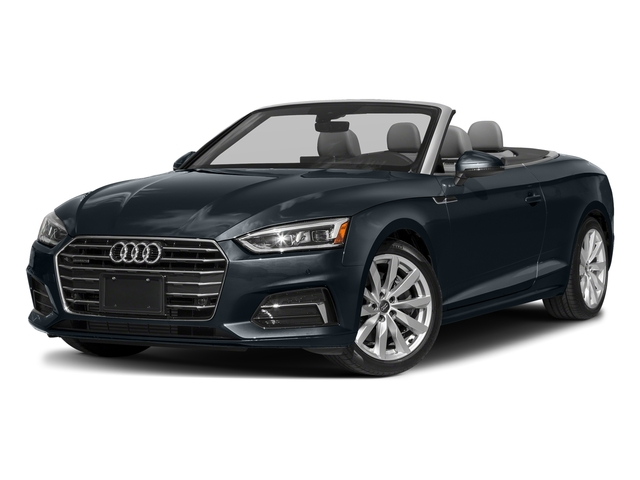 Moonlight Blue Metallic/Black Roof 2018 Audi A5 Cabriolet Pictures A5 Cabriolet 2.0 TFSI Premium photos front view