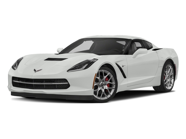 Arctic White 2018 Chevrolet Corvette Pictures Corvette 2dr Stingray Cpe w/2LT photos front view