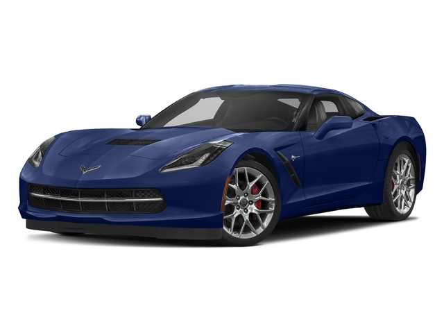 Admiral Blue Metallic 2018 Chevrolet Corvette Pictures Corvette 2dr Stingray Cpe w/2LT photos front view