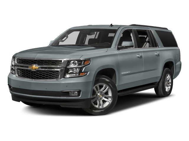 Satin Steel Metallic 2018 Chevrolet Suburban Pictures Suburban 4WD 4dr 1500 LT photos front view