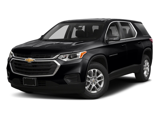 Mosaic Black Metallic 2018 Chevrolet Traverse Pictures Traverse FWD 4dr LS w/1FL photos front view