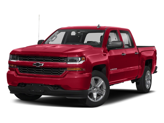 Red Hot 2018 Chevrolet Silverado 1500 Pictures Silverado 1500 4WD Crew Cab 143.5 Custom photos front view