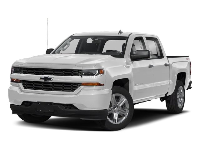 Silver Ice Metallic 2018 Chevrolet Silverado 1500 Pictures Silverado 1500 4WD Crew Cab 143.5 Custom photos front view
