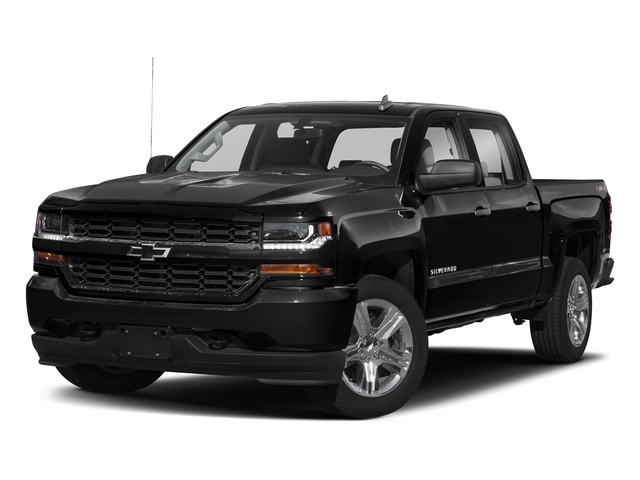 Black 2018 Chevrolet Silverado 1500 Pictures Silverado 1500 4WD Crew Cab 143.5 Custom photos front view