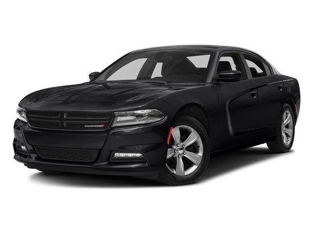 Pitch Black Clearcoat 2018 Dodge Charger Pictures Charger SXT Plus RWD photos front view