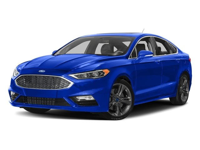 Blue Metallic 2018 Ford Fusion Pictures Fusion Sport AWD photos front view
